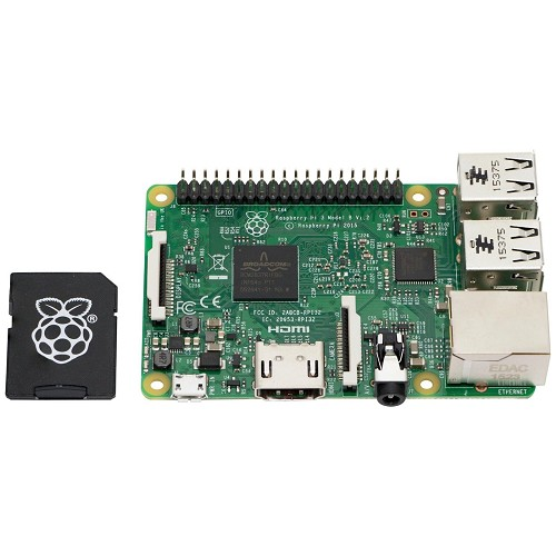 Raspberry Pi 3 Model B Quad Core 1.2GHz & 16GB MicroSD Card Preloaded with NOOBS