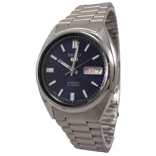 Seiko 5 SNXS77 SNXS77J1 Automatic 21 Jewels Blue Dial Stainless Steel Men's Watch - Made In Japan