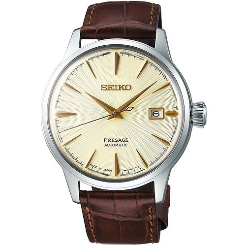 Seiko Presage SRPC99J1 Cocktail Time Golden Champagne 23 Jewels Automatic Gold Dial Japan Made Men's Watch INT'L WARRANTY