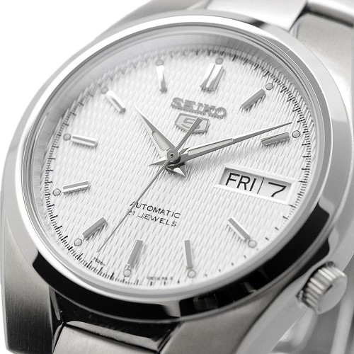 Seiko 5 SNK601 SNK601K1 21 Jewels Automatic White Dial Stainless Steel Men's Watch