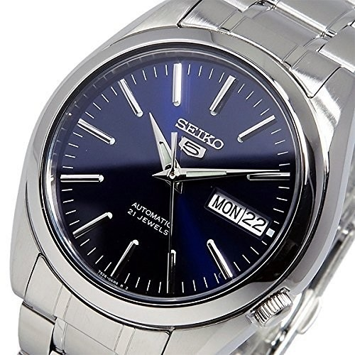 Seiko 5 SNKL43 SNKL43K1 21 Jewels Automatic Blue Dial Stainless Steel Men's Watch