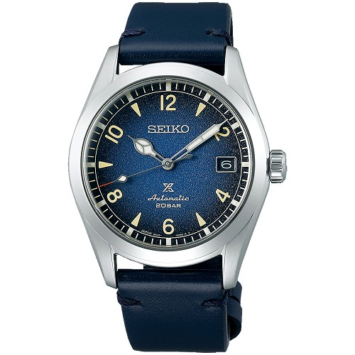 Seiko Prospex Land Alpinist SPB157J1 24 Jewels Automatic Blue Dial Blue Leather Strap Men's Watch - Made in Japan