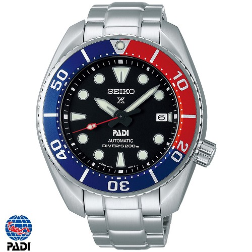 Seiko Prospex SPB181J1 PADI Sumo 24 Jewels Automatic Diver Scuba 200M Black Dial Padi Special Edition Men's Watch - Made in Japan