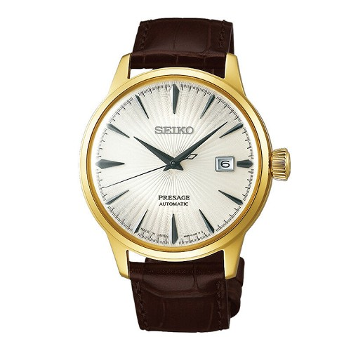 "Seiko Presage SRPB44J1 Automatic Champagne Gold Cocktail Time ""Margarita"" Men's Watch - Made in Japan"