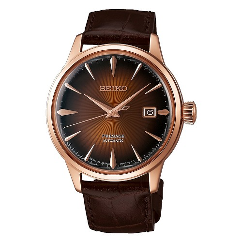 "Seiko Presage SRPB46J1 Cocktail Time 23 Jewels Automatic ""MANHATTAN"" Brown Dial Men's Watch - Made in Japan"