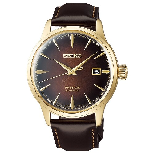 "Seiko Presage SRPD36J1 Cocktail Time ""OLD FASHIONED"" 23 Jewels Automatic Gold Brown Dial Men's Watch Limited 8000 pcs Worldwide - Made in Japan"