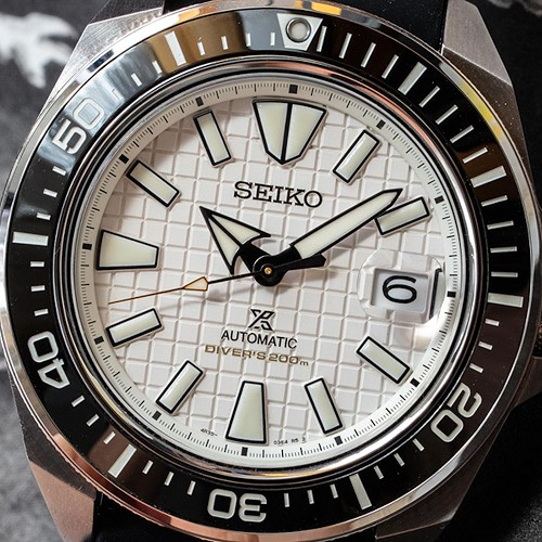 Seiko Prospex SRPE37K1 King Samurai White Dail 23 Jewels Automatic Limited Edition Men's Diver Watch INTERNATIONAL WARRANTY