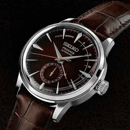 "SEIKO Presage SSA393J1 Cocktail Time 29 Jewels Automatic ""BLACK CAT MARTINI"" Dark Violet Dial JAPAN MADE Men's Watch INT'L WARRANTY"